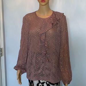 Trina Turk 100% silk georgette blouse